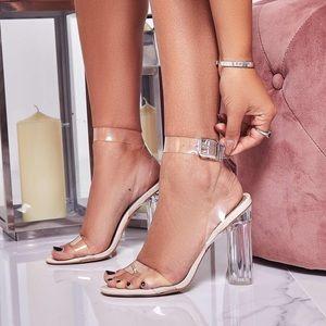 Clear Perspex Sandal Heels